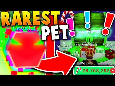I FOUND THE *SECRET* CHRISTMAS CHEST & RAREST PETS IN ROBLOX BUBBLE GUM SIMULATOR (Christmas Update)