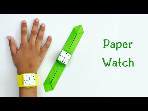 how-to-make-easy-paper-watch-for-kids-/-nursery-craft-ideas-/-paper-craft-easy-/-kids-crafts