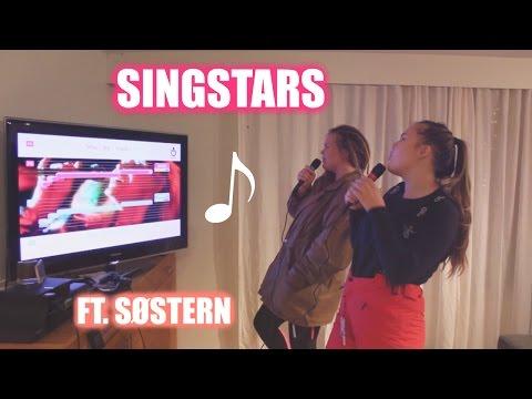 SINGSTAR KARAOKE med søstern ⎮playstation 2