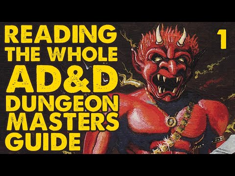 Reading The Whole AD&D DMG: Part 1