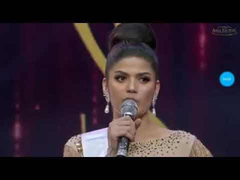 Miss Asia Pacific International 2018 SHARIFA AKEEL winning answer