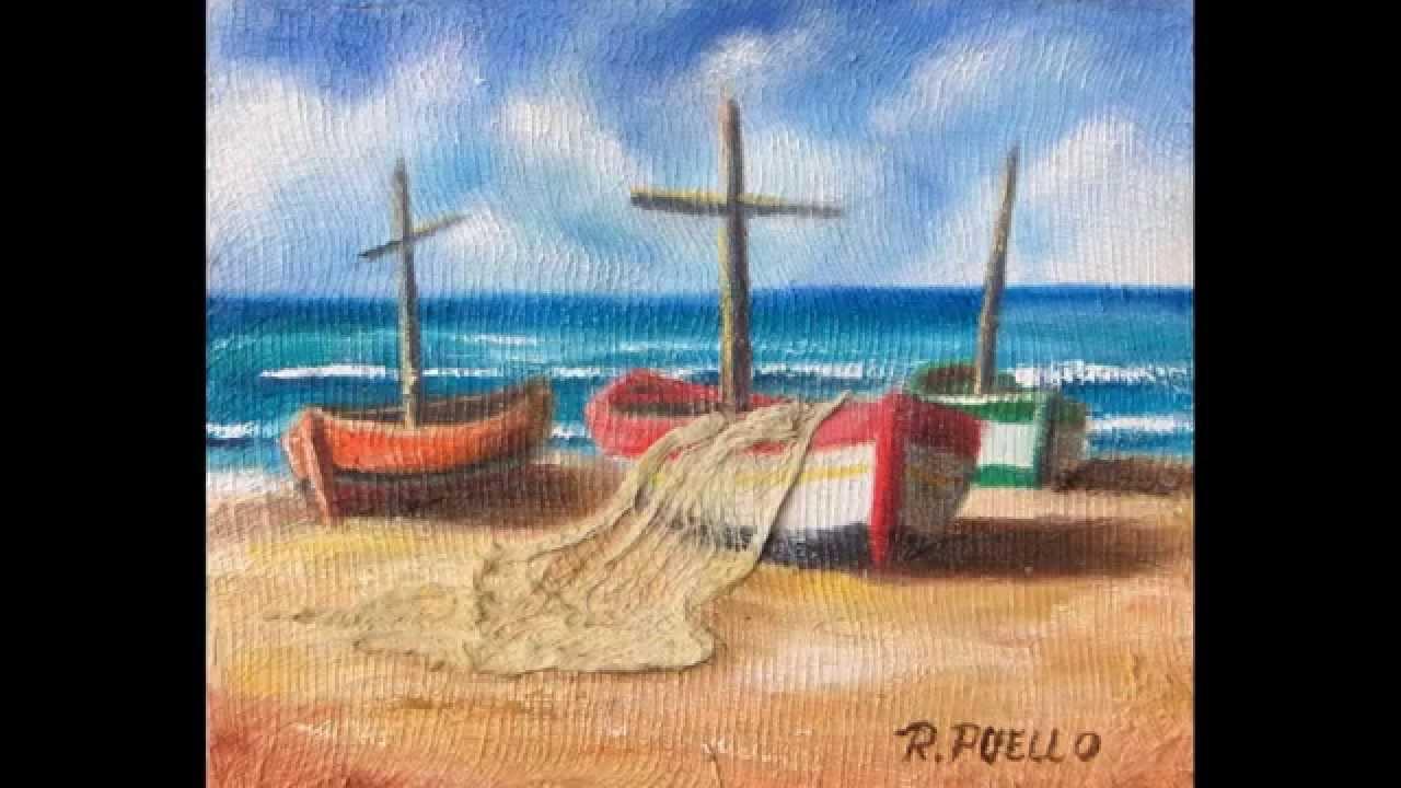 Arte Marinas Pinturas Oleo Raphael Puello Youtube
