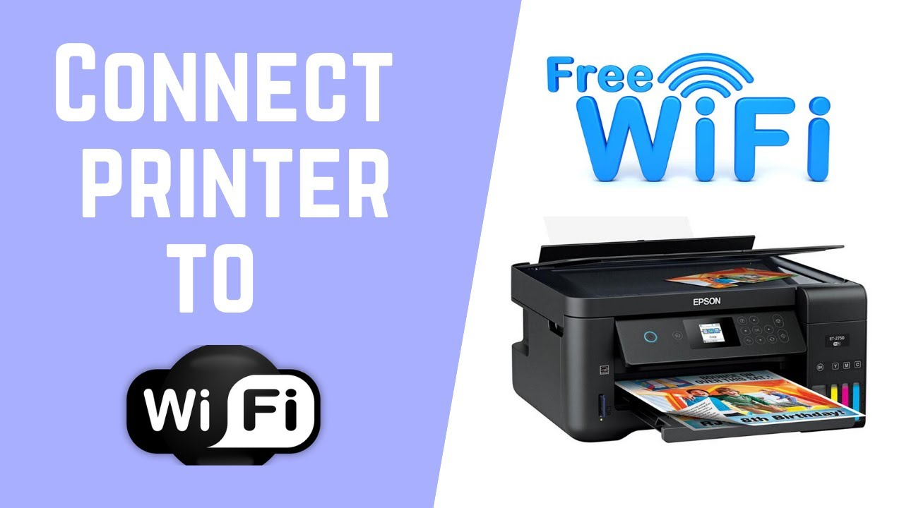 How To Connect Your Epson Printer To Wifi Youtube