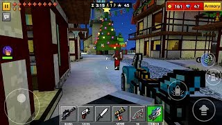 Pixel Gun 3D Android Gameplay - Night Christmas Town