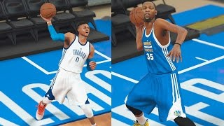 Who Can Make a Full Court Shot First? Westbrook, Durant, or James Harden? NBA 2K17 Gameplay