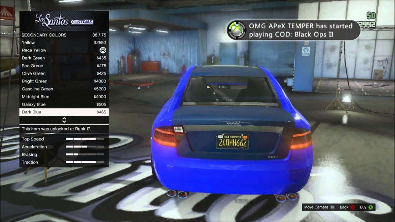 GTA Online Secret Vehicle Obey Tailgater Michaels Audi YouTube - Audi car gta 5