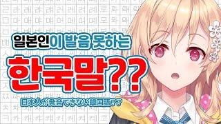 【韓国語】일본인이 발음못하는  한국어 도전!! (日本語字幕付き)