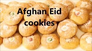 Afghan eid cookies