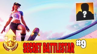 Secret Battle Star in Week 9 Location Guide in Fortnite // FREE Battle Pass Tier in Season 9