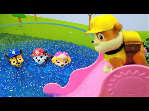 Games for kids with toys. PAW Patrol toys.
