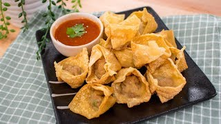 Fried Wontons Recipe สูตรเกี๊ยวทอด   Thai Recipes
