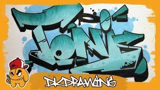 Graffiti Tutorial - How to draw graffiti names - Toni #39
