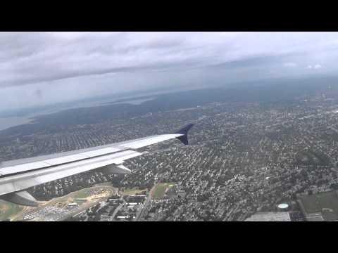 Delta Air Lines Airbus A320 Landing New York LaGuardia Airport