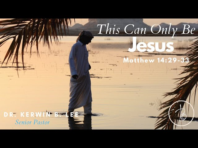 1-10-2021 This Can Only Be Jesus