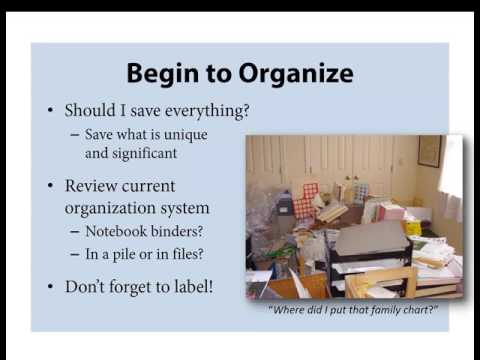 Organizing And Preserving Your Family Papers