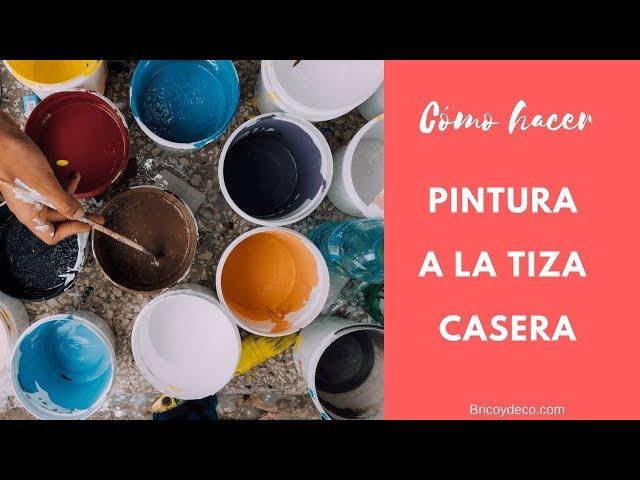 Cómo hacer pintura a la tiza casera | BRICOYDECO BRICOLAJE DECORACION