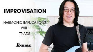 IMPROVISATION Harmonic Implications With Triads / Tomo Fujita