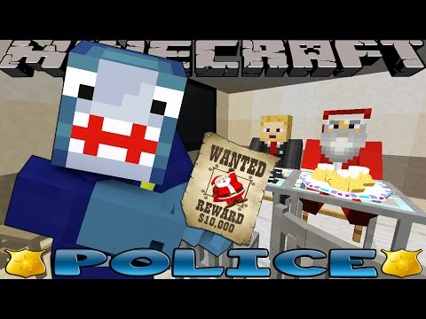 Minecraft POLICE - SAVING CHRISTMAS w/ Little Kelly & Little Carly!!