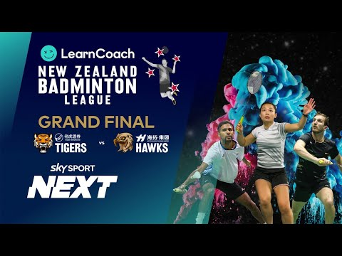 NZ Badminton League | Grand Final | Tiger Brokers Tigers Vs HeyTour Hawks | Sky Sport Next