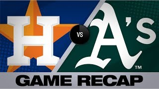 Grossman's walk-off pushes A's past Astros | Astros-Athletics Game Highlights 8/16/19