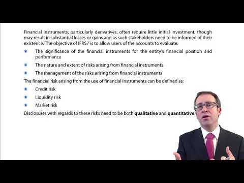 CIMA F3 Financial instruments - Disclosure (IFRS 7)