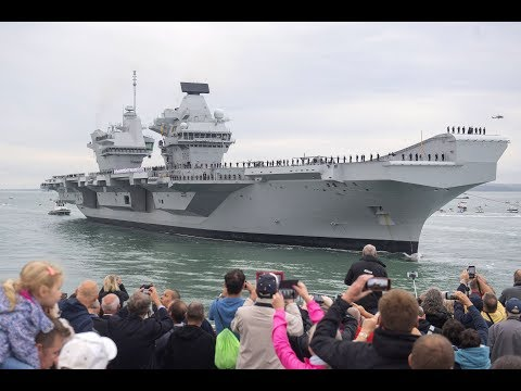 ITV News Meridian special programme - Arrival of HMS Queen Elizabeth Wed 16th August 2017