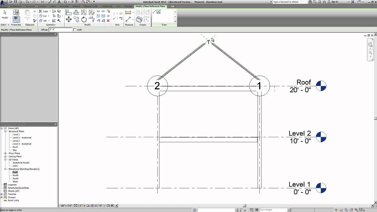 Revit 2014 - Roof Truss System