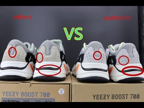 on sale 4c1eb 19c2f YEEZY 700 Wave Runner Authentic VS Fake Comparison and review