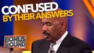 STEVE HARVEY CONFUSED BY ANSWERS On Family Feud USA!