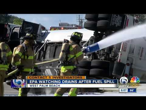EPA watching drains after fuel spill