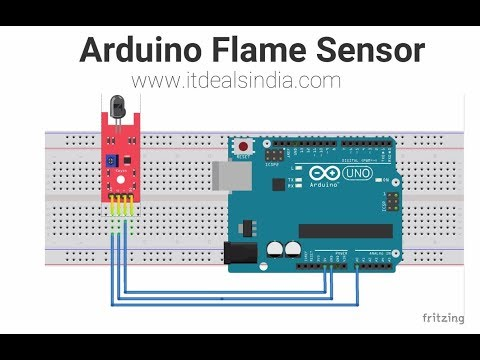 Arduino Flame Sensor Step By Step Hindi |KY-026| - YouTube