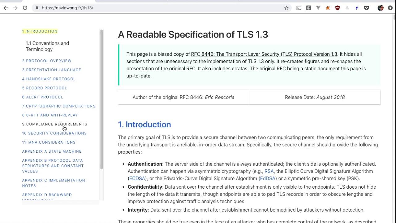 TLS 1 3 /\