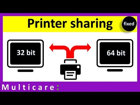 How To Share Printer Between Windows 32 Bit And 64 Bit | Dual Drivers