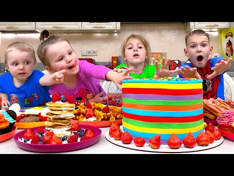 Cooking and more Children's Songs and Videos with Five Kids