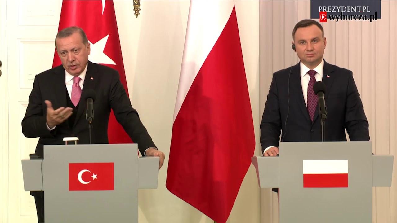 Recep Erdogan u Andrzeja Dudy. Czy polski prezydent zapytał tureckiego o prawa człowieka?