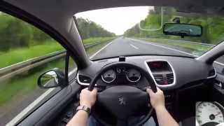 Peugeot 207 SW 1.4 (2009) on German Autobahn - POV Top Speed Drive