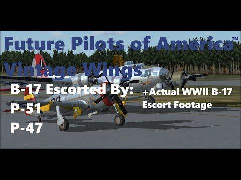 Future Pilots of America™ Vintage Wings B-17 Escort | P-51 | P-47