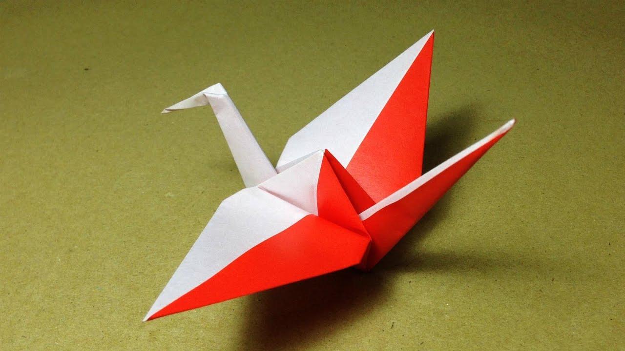 Origami bird crane instructions tutorial youtube for Crane tutorial
