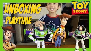 Woody and Buzz Unboxing & Playtime funtime