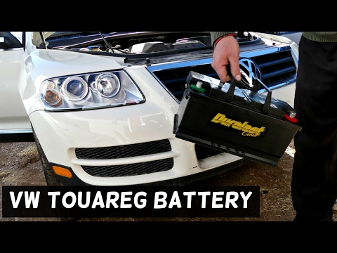 VW TOUAREG BATTERY REMOVAL REPLACEMENT 2002 2003 2004 2005 2006 2007 2008 2009 2010