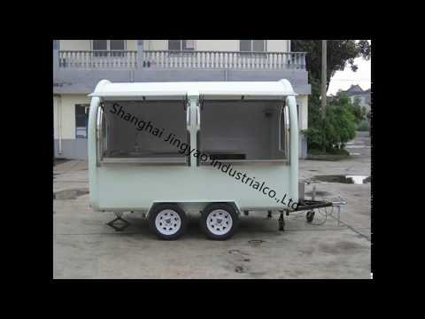 High Quality Mobile Fryer Food Cart, China Food Trucks Hot Dog Cart