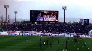 2015年 ヴァンフォーレ甲府の試合前、スターティングメンバーの紹介映像...