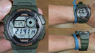 CASIO STANDARD AE-1000W-1A3 MILITARY GREEN EDITION - UNBOXING3AV
