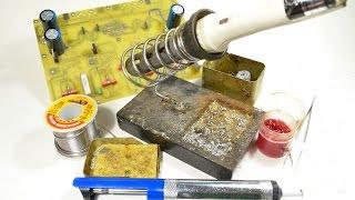 Урок по демонтажу радиодеталей с печатных плат