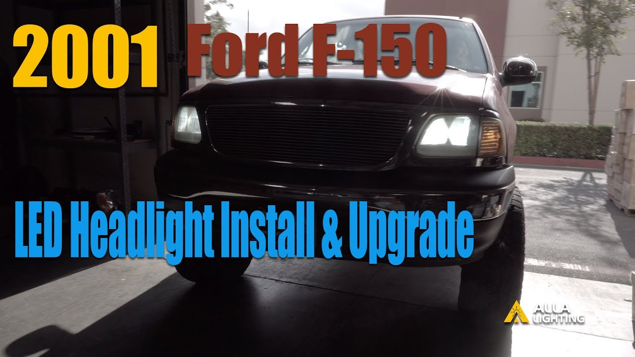 Change Install 1994 2003 Ford F150 Headlight Bulb Replacement W Led Youtube