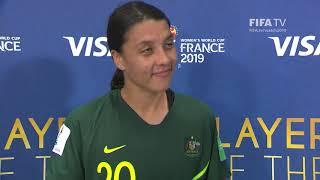 Sam Kerr – Player of the Match – Jamaica v Australia