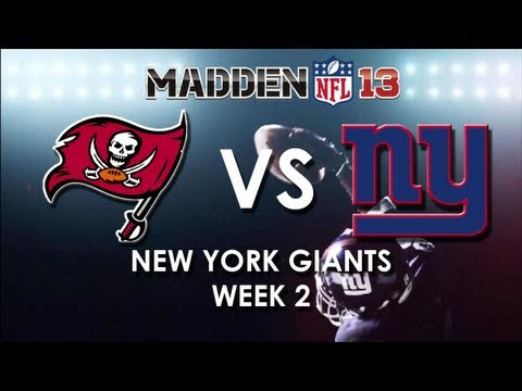 Madden 13: Tampa Bay Buccaneers vs. New York Giants