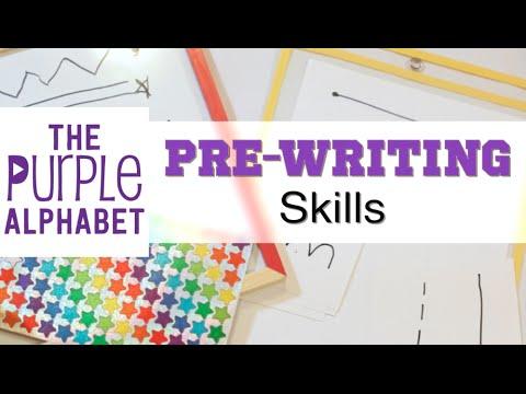 Pre Writing Activities For Preschoolers Youtube