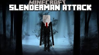 SCARY SLENDERMAN APPEARS IN THE FORREST NEAR OUR HOUSE !! Minecraft Mods