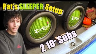 "Video Impressive 10"" Subwoofer Setup w/ Pat's 2 AudioQue Subs on Single American Bass Car Audio Amplifier download MP3, 3GP, MP4, WEBM, AVI, FLV Desember 2017"